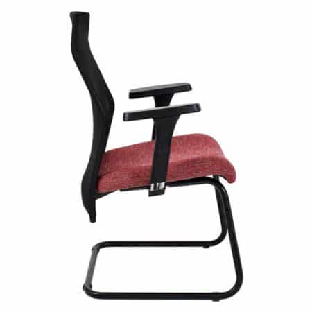 Exodus visitors chair side view with Y400 armrests