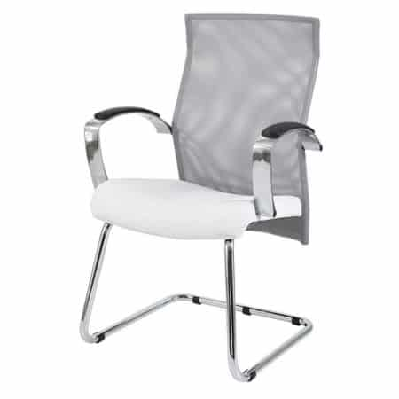 Exodus visitors chair with Y350 armrests and chrome sleigh base frame
