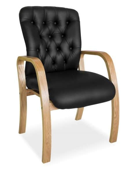 Adda wood 4 leg visitors arm chair