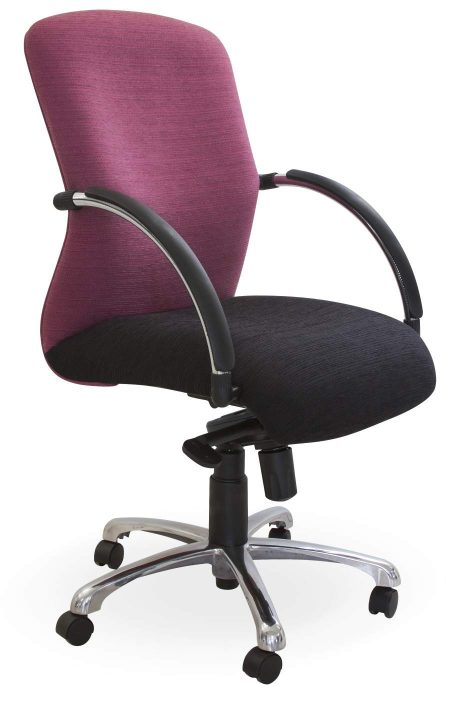 Monaco medium back chair with arms