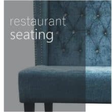Restaurant benches and dining chairs
