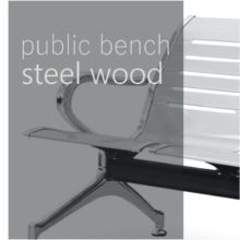 Public benches - steel & wood