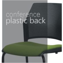 Conference chairs - plastic back